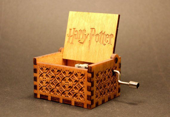 Wooden Music Box, Unique Harry Potter Gifts, Book Riot