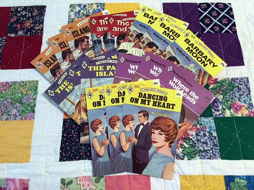 vintage harlequin romance novel cover art postcards romance reader gifts