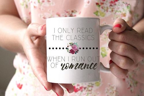 romance genre bookish mug romance reader gifts