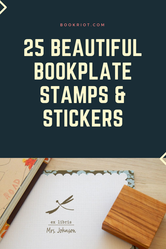 25 beautiful bookplate stamps and stickers for your home library. bookstamps | book plates | book stickers