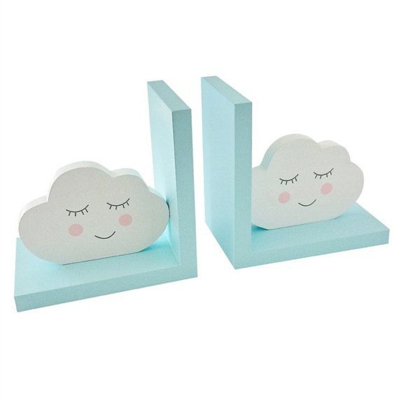 Clouds Bookends Kids Nursery
