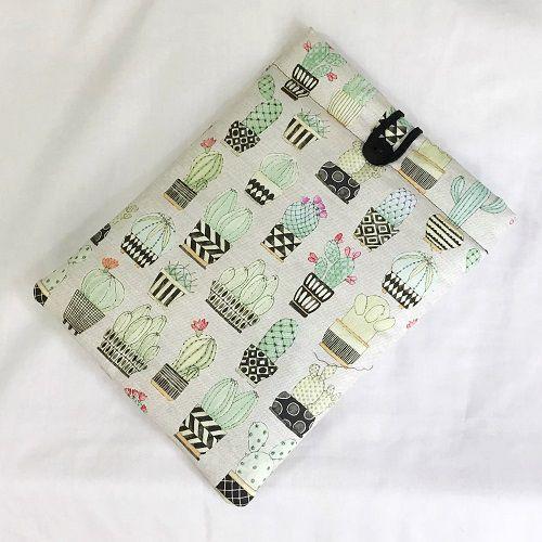 succulent themed book sleeve