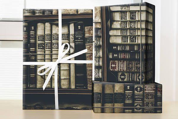 Antique book wrapping paper