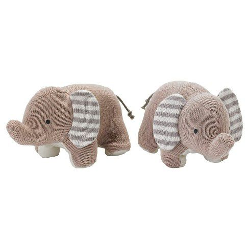 Plush Elephant Kids Bookends