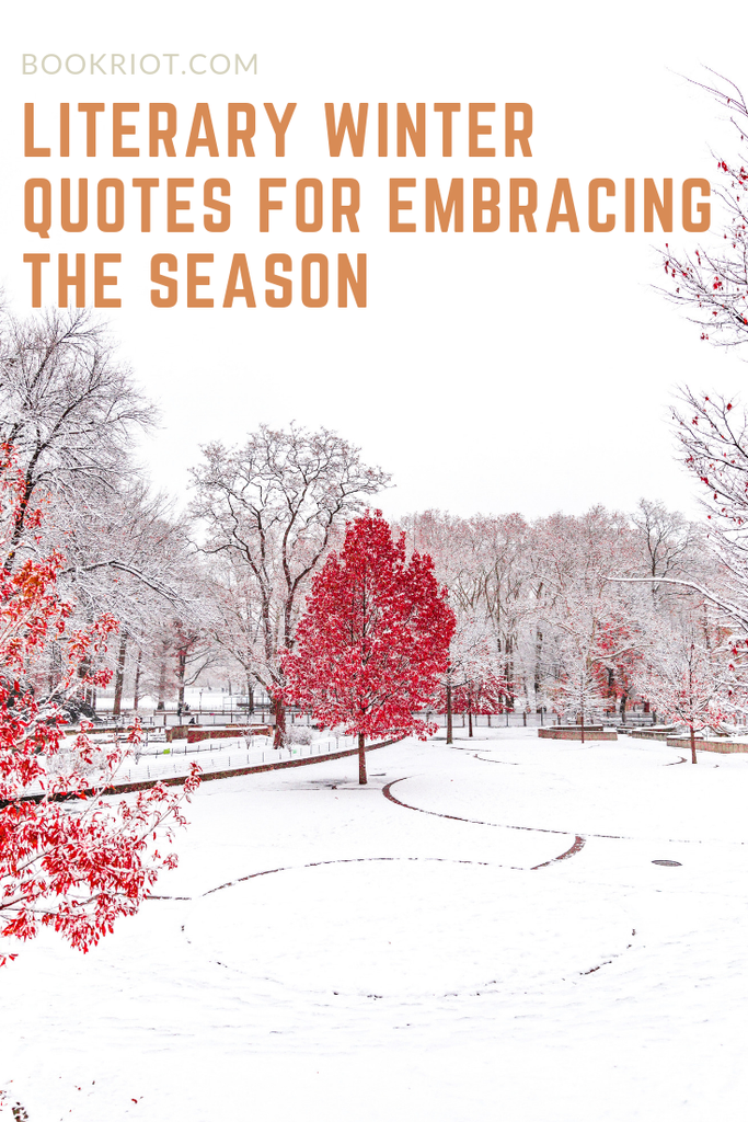 Great quotes about winter to help you embrace the season. winter quotes | quotes about winter | quote lists