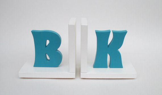 Personalized Letter Bookends