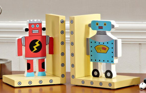 Robot Bookends