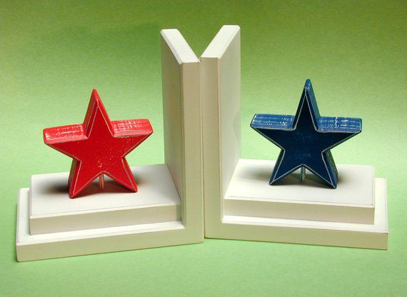 Colorful Star Bookends