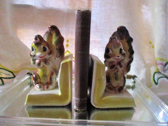 Vintage Squirrel Bookends