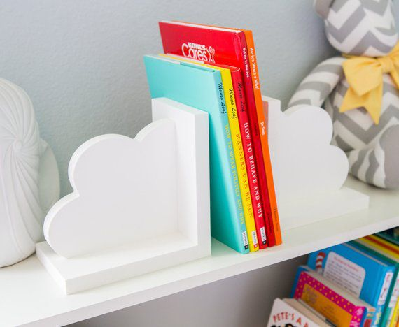 White Clouds Nursery Bookends