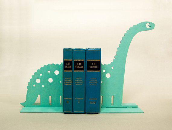 Wooden Dinosaur Kids Bookends