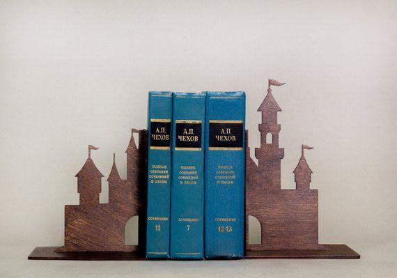 Wooden Castle Children's Nursery Bookends