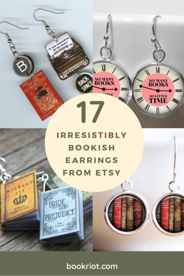 Bookish Etsy Earrings