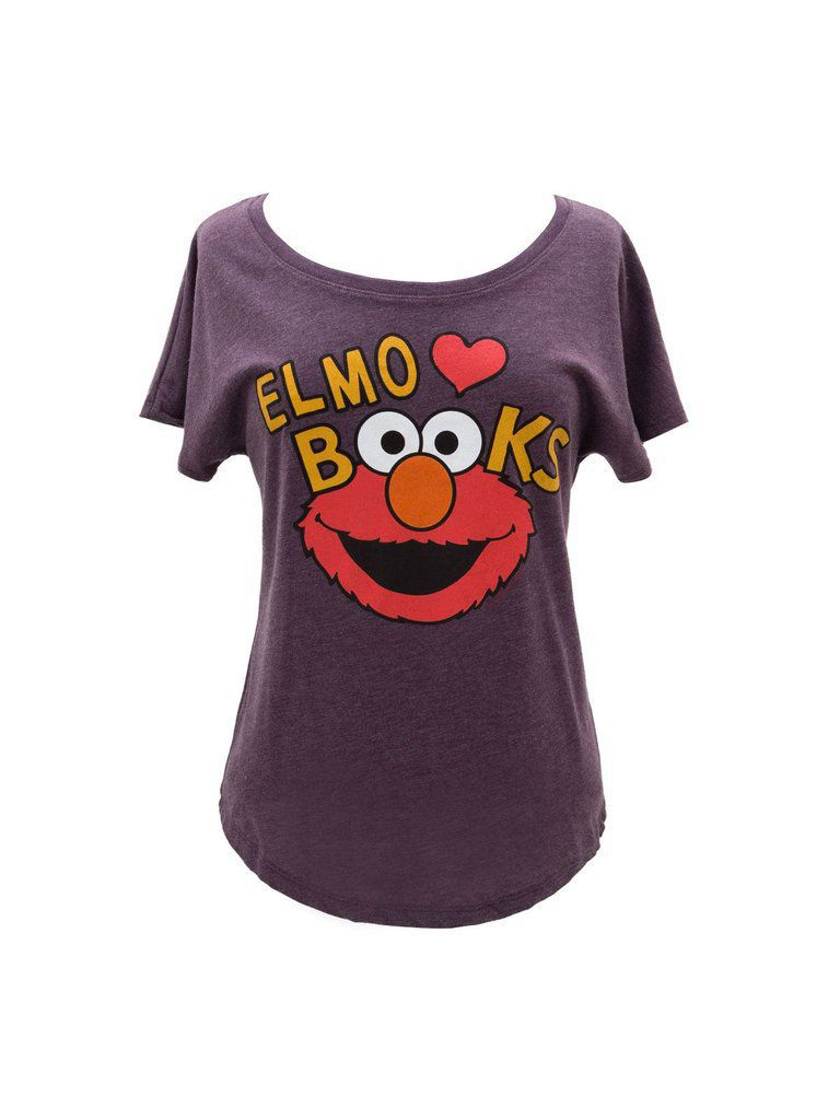 Bookish Sesame Street: Elmo Loves Books tee