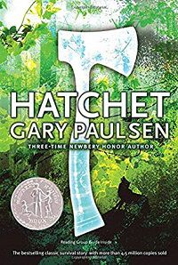 book cover for hatchet