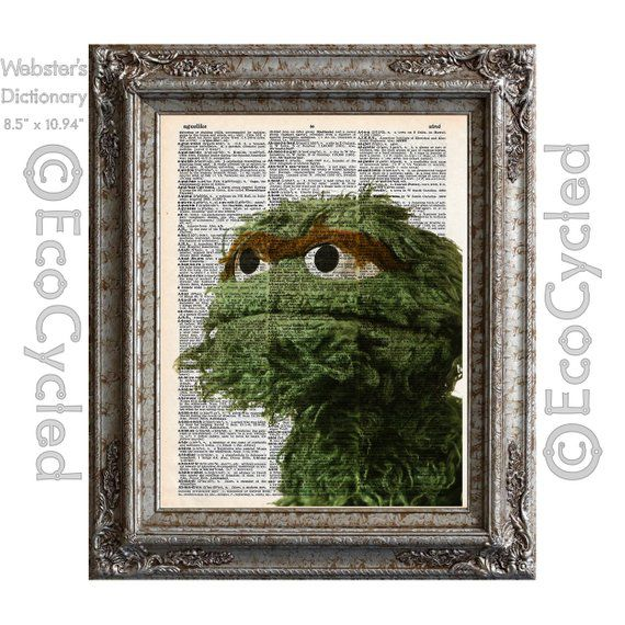 Bookish Sesame Street: Oscar the Grouch Book Print