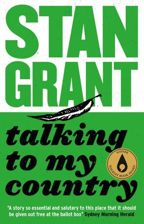 Talking to my Country by Stan Grant book cover