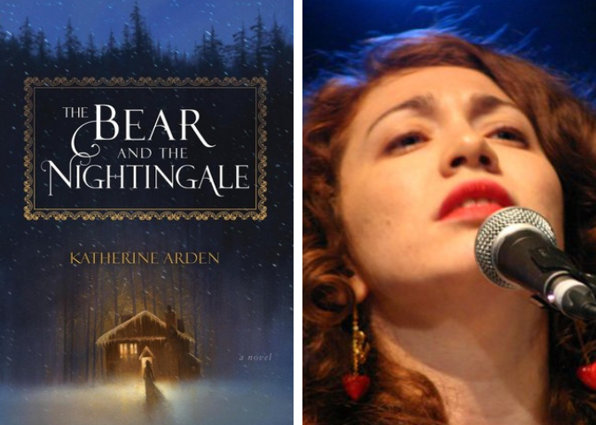 The Bear and the Nightingale cover and Regina Spektor photo