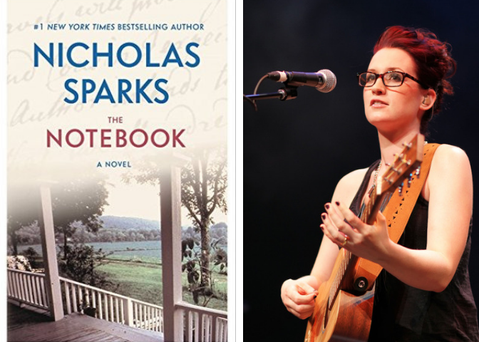 The Notebook cover and Ingrid Michaelson headshot
