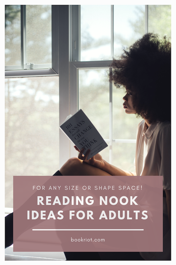 Create your perfect space for reading with these reading nook ideas for adults. reading nook | how to make a reading nook | reading nook ideas | reading nook supplies | reading nook spaces | how to make a reading space | adult reading nooks | #readingnooks | #readingnook