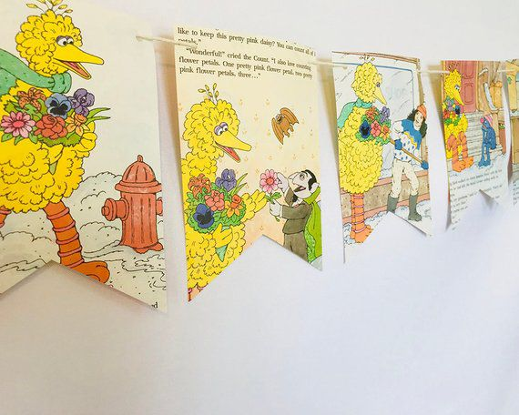 Bookish Sesame Street: Big Bird Book Banner