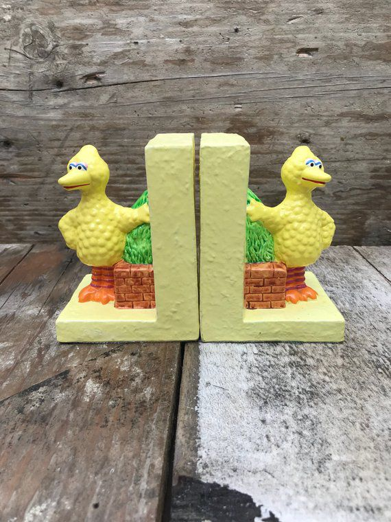 Bookish Sesame Street: Big Bird Bookends