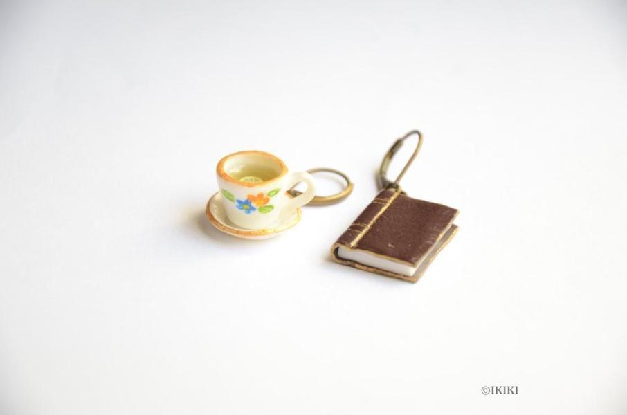Book and Tea Earrings
