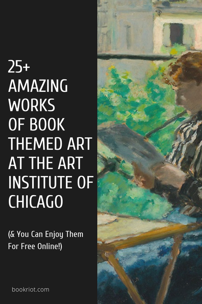 Cool, unique, and historical art in the Art Institute of Chicago's online gallery you can access and enjoy for free! book art   art   book photography   art institute of chicago art   awesome book art   historical art with books