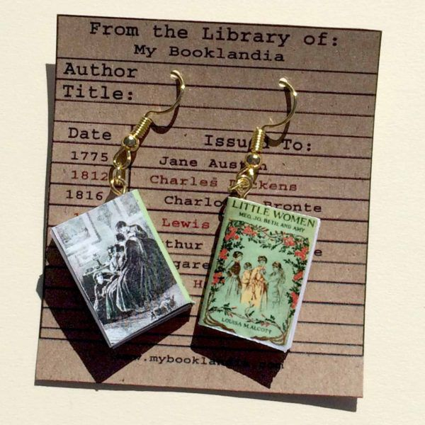 Classic Book Cover Earrings