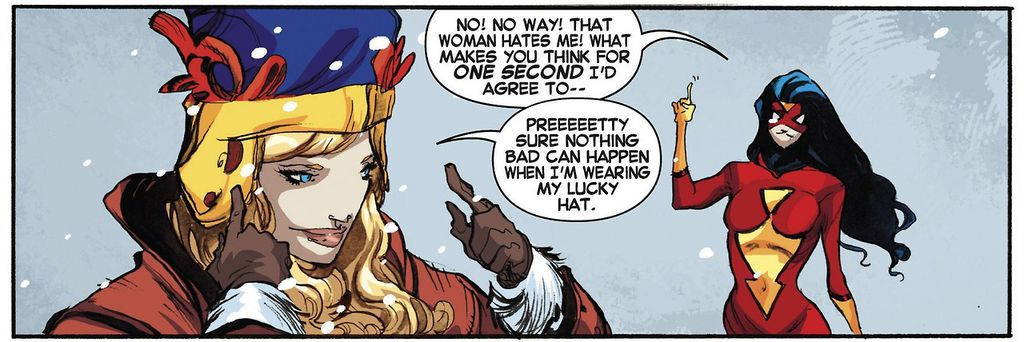 Captain Marvel Quote Lucky Hat