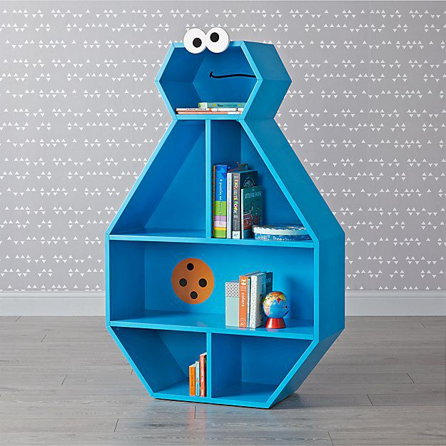 Bookish Sesame Street: Cookie Monster Bookcase