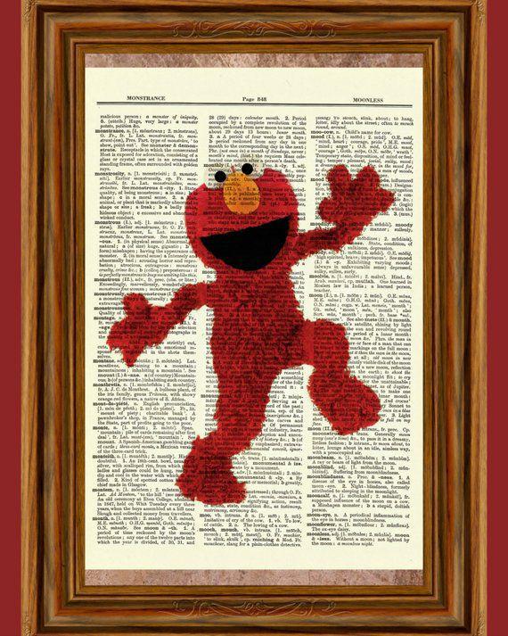 Bookish Sesame Street: Elmo Book Print
