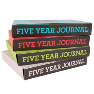Five year journal in four different colors