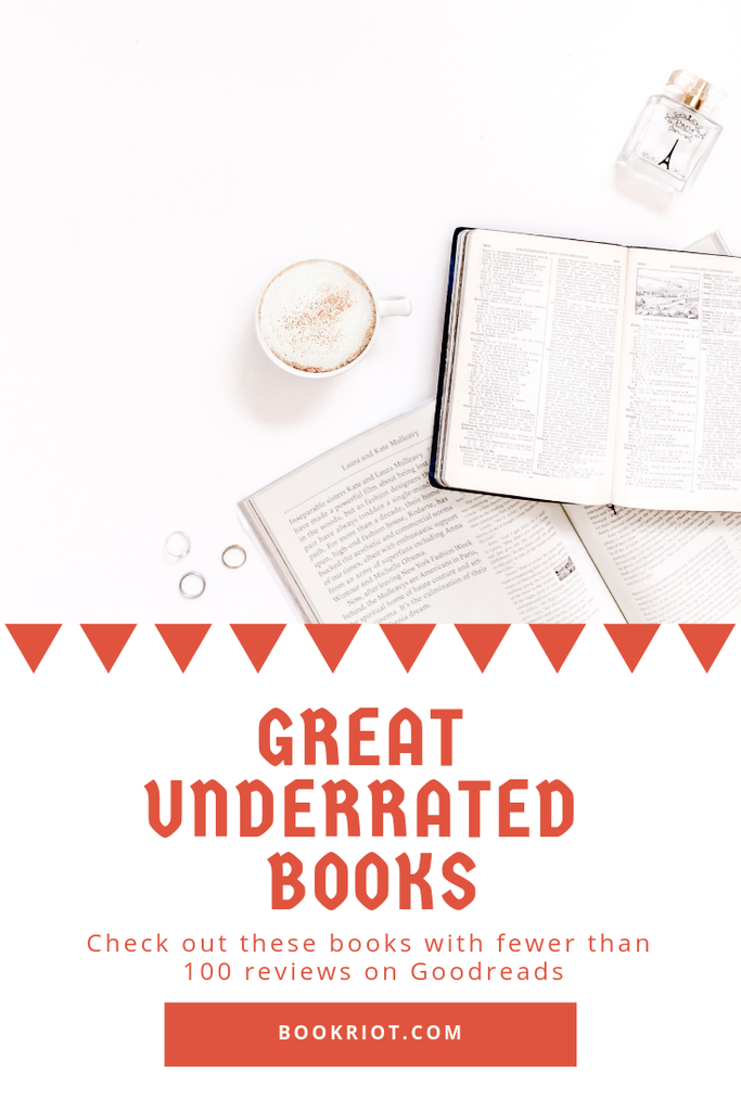 Dig into a book published before January 2019 that have fewer than 100 reviews on Goodreads. Don't sleep on these gems. underrated books | book lists | great books to read | read harder challenge | read harder challenge 2019