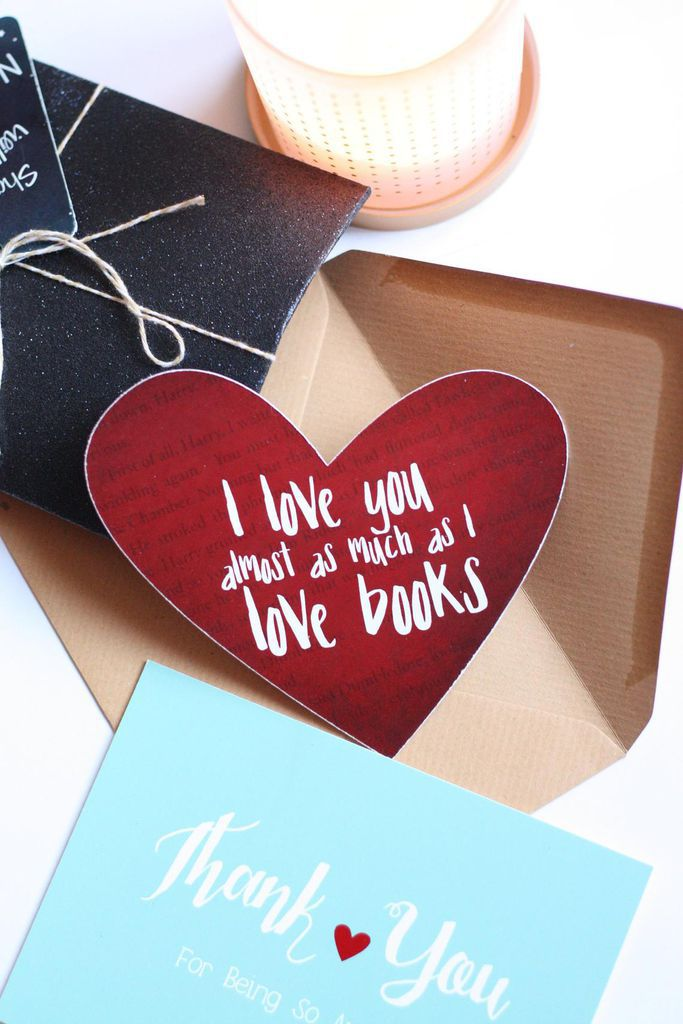 I Love You Almost as Much as I Love Books Valentine's Day Card