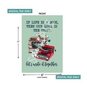 If Life is a Book Then Our Love is the Story Valentine's Day Card