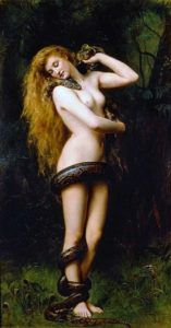 Painting of Lilith by John Collier, 1887 image