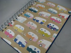 line a day journal with campers on the cover