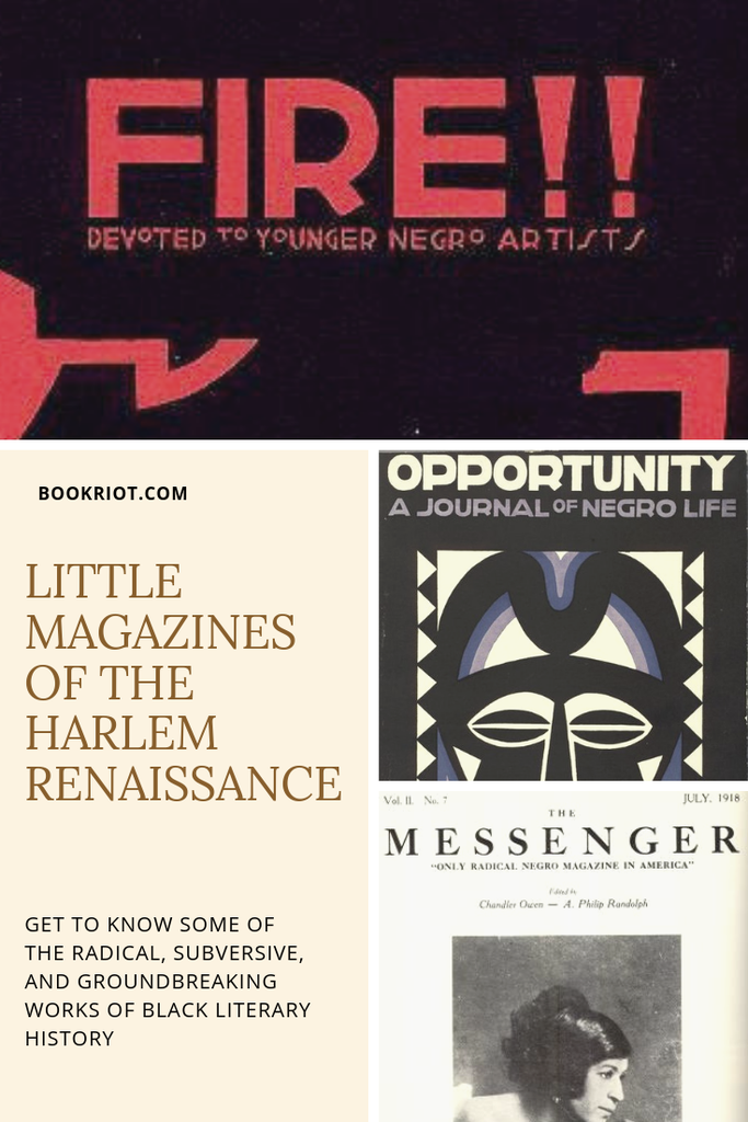 Familiar with the little magazines of the Harlem Renaissance? Get to know the history of the movement via some of the radical, subversive magazines of the era. little magazines | literary history | american literary history | harlem renaissance | harlem renaissance literature