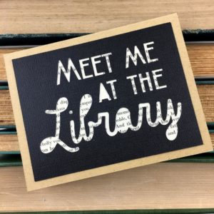 Meet Me at the Library Card