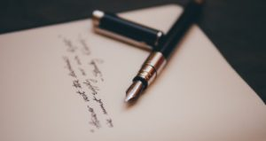pen letter writing feature