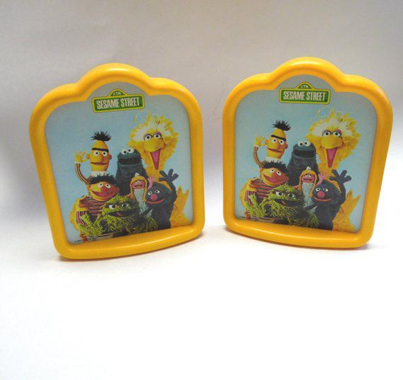 Bookish Sesame Street: Bookends