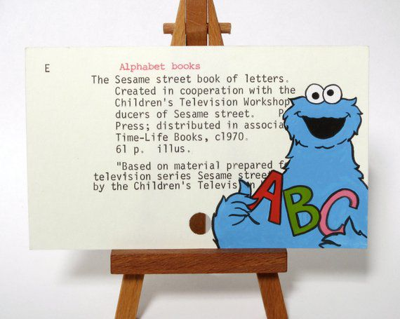 Bookish Sesame Street: Cookie Monster Library Card