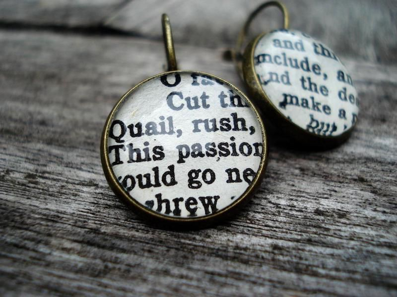 Shakespeare Play Earrings