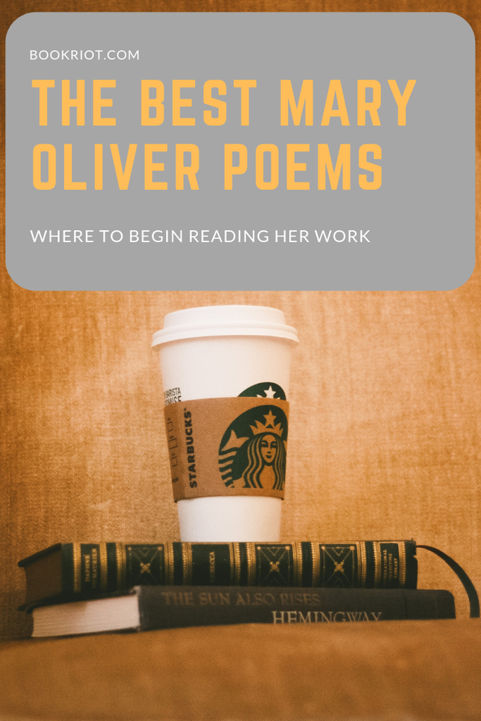 The best Mary Oliver poems and where to begin reading her work. Mary Oliver | Mary Oliver poems | Poems to read | Great Poetry | reading lists