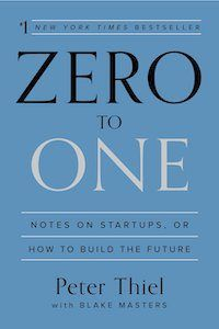 Cover of Zero to One by Peter Thiel