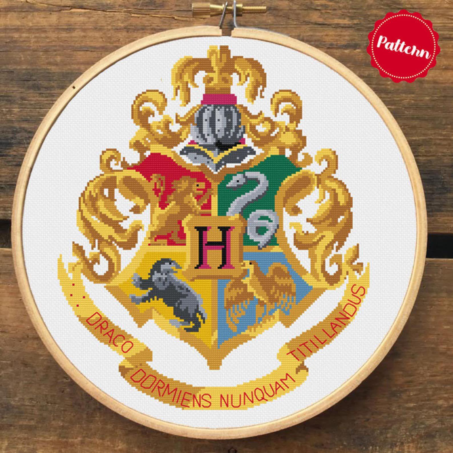 Hogwarts cross-stitch pattern