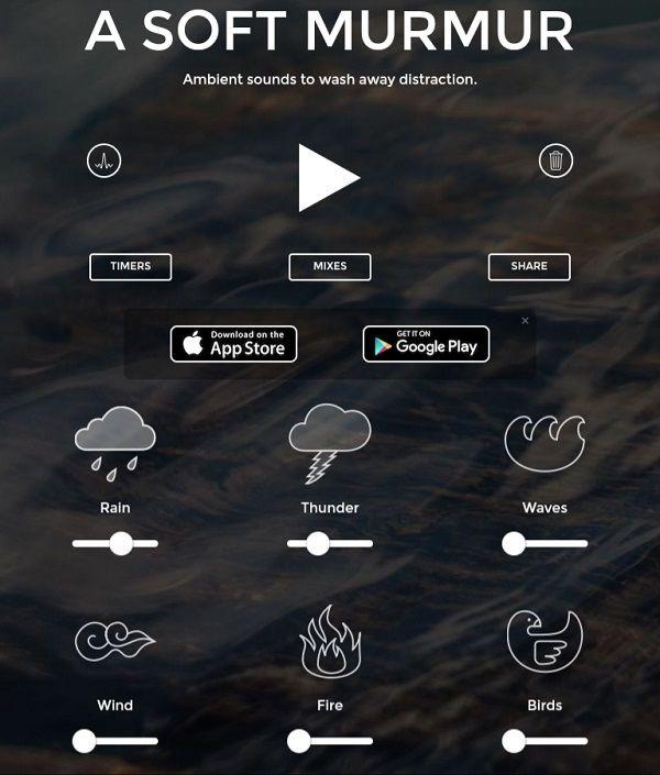 A_Soft_Murmur_Home_Page_Screen_Shot
