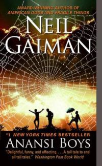 Anansi Boys book cover by Neil Gaiman