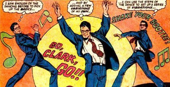 Clark Kent dancing disco